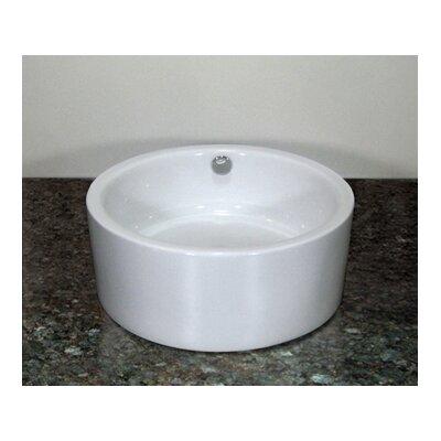 Oasis Ceramic Circular Vessel Bathroom Sink with Overflow