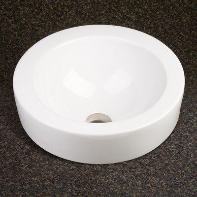Rhiza Ceramic Circular Vessel Bathroom Sink