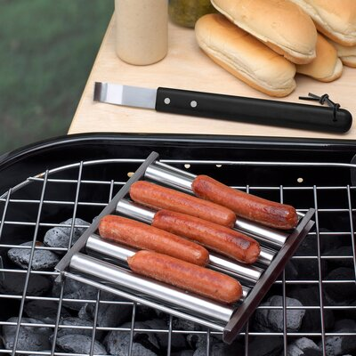 BBQ Hot Dog Grill Top Roller with Wood Handle HW5298