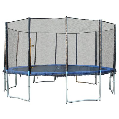 """180"""" Round Trampoline with Safety Enclosure 6180-15FTcom"""