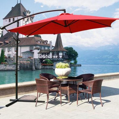 10 MCombo Cantilever Umbrella Color: Red