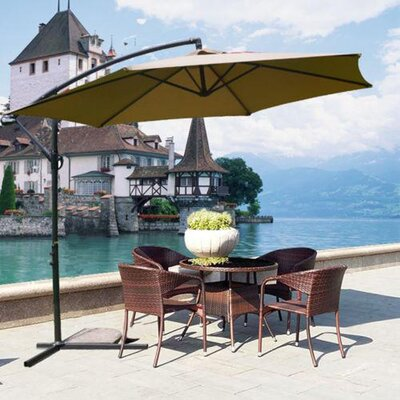 10 MCombo Cantilever Umbrella Color: Tan