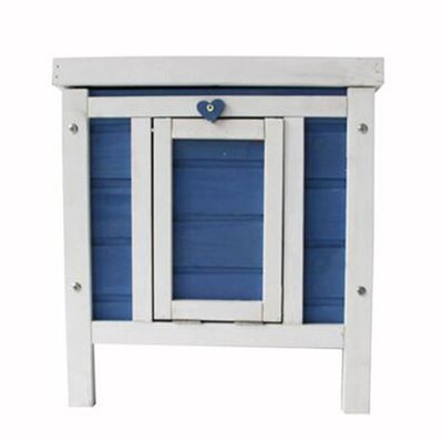 Alvin Wooden Little Small Animal Hutch Color: Blue