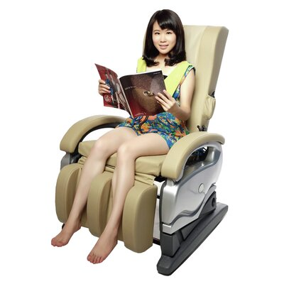 MCombo Leather Electric Reclining Massage Chair Upholstery: Olive Green