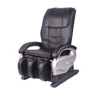 MCombo Leather Electric Reclining Massage Chair Upholstery: Black