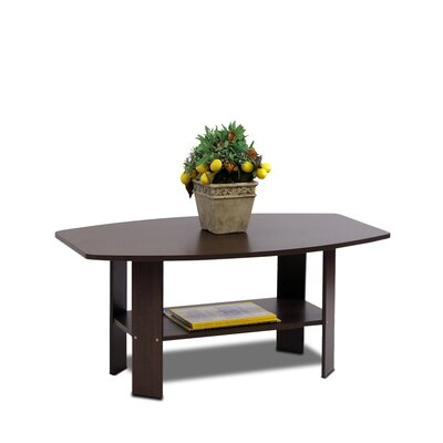 Latasha Simple Coffee Table Color: Dark Brown Wood Grain
