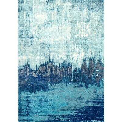 Gleno Blue Area Rug Rug Size: 4 x 6