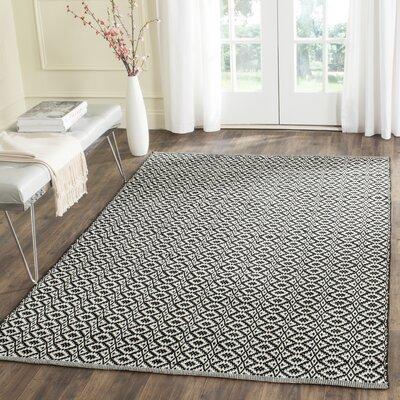 Whyte Hand Woven Ivory/Black Area Rug Rug Size: Runner 23 x 7