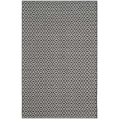 Whyte Hand Woven Ivory/Black Area Rug Rug Size: Rectangle 4 x 6