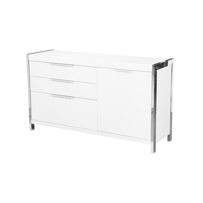 Damian Sideboard Color: White