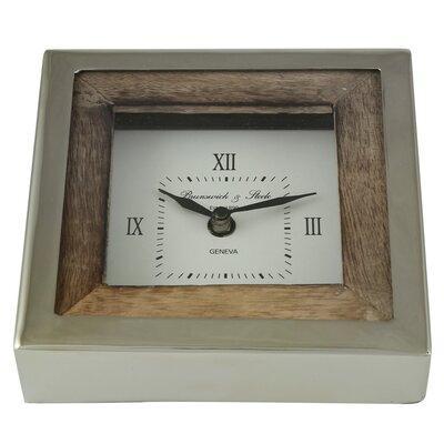 Tischuhr Ponders | Dekoration > Uhren > Standuhren | Braunnickel | Edelstahl - Holz | Haus am Meer