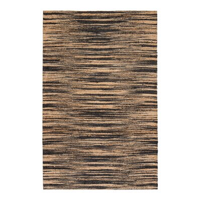 Chriseda Hand-Woven Golden/Gray Area Rug Rug Size: 5 x 8