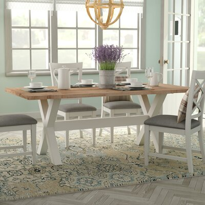 Iberide Dining Table Color: White Wash