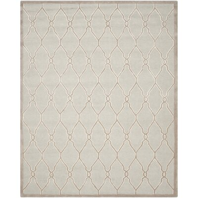 Martins Hand-Tufted Wool Light Gray/Ivory Area Rug Rug Size: Rectangle 5 x 8