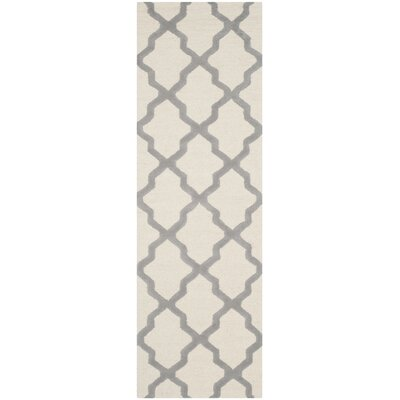 Charlenne Hand-Tufted Ivory Area Rug Rug Size: Runner 26 x 8
