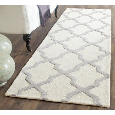 Charlenne Hand-Tufted Ivory Area Rug Rug Size: Runner 26 x 6