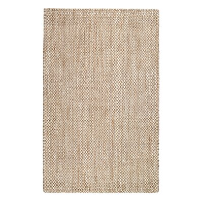 Martindale Hand-Made Cream Area Rug Rug Size: 8 x 10