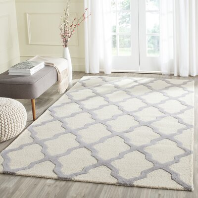 Charlenne Hand-Tufted Ivory Area Rug Rug Size: Rectangle 10 x 14