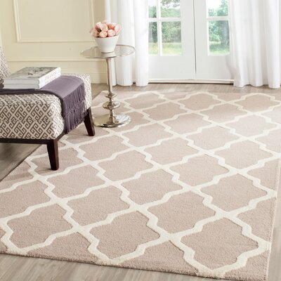 Kirschbaum Hand-Woven Wool Dark Beige/Ivory Area Rug Rug Size: Rectangle 3 x 5, Finish: Beige