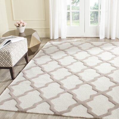 Charlenne Hand-Tufted Wool Ivory/Beige Area Rug Rug Size: Rectangle 3 x 5