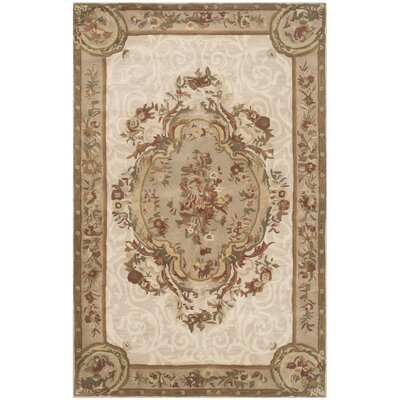 Atlasburg Hand-Tufted Wool Ivory Area Rug Size: Rectangle 5 x 8