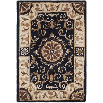 Atlasburg Hand-Tufted Wool Black Area Rug Size: Rectangle 3 x 5