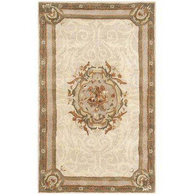 Atlasburg Hand-Tufted Wool Ivory Area Rug Size: Rectangle 4 x 6