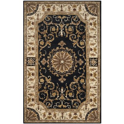 Atlasburg Hand-Tufted Wool Black Area Rug Size: Rectangle 5 x 8