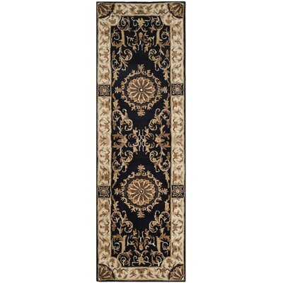 Atlasburg Hand-Tufted Wool Black Area Rug Size: Runner 26 x 12