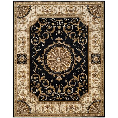 Atlasburg Hand-Tufted Wool Black Area Rug Size: Rectangle 96 x 136