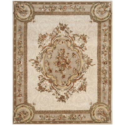 Atlasburg Hand-Tufted Wool Ivory Area Rug Size: Rectangle 6 x 9