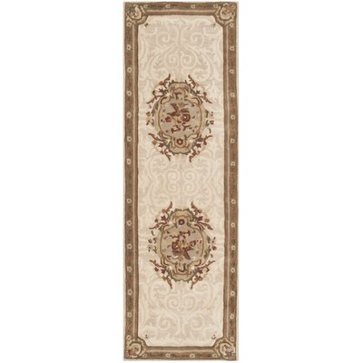Atlasburg Hand-Tufted Wool Ivory Area Rug Size: Runner 26 x 10