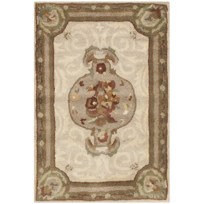 Atlasburg Hand-Tufted Wool Ivory Area Rug Size: Rectangle 2 x 3