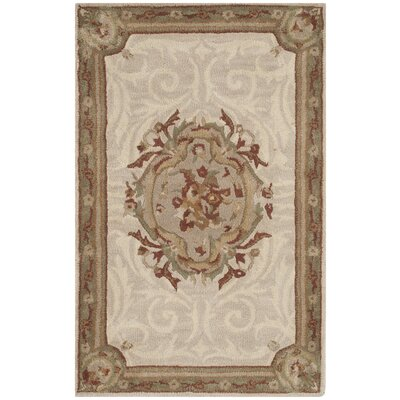 Atlasburg Hand-Tufted Wool Ivory Area Rug Size: Rectangle 26 x 4