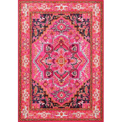 Clarke Pink Area Rug Rug Size: Rectangle 53 x 77