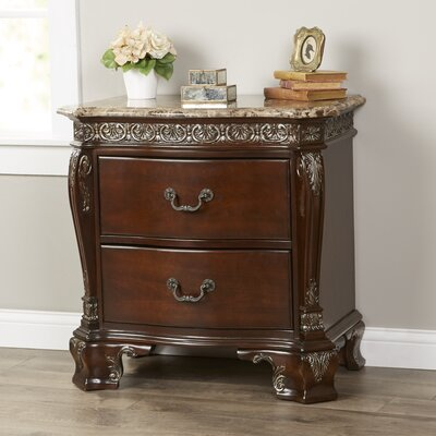 Ansonia 2 Drawer Nightstand