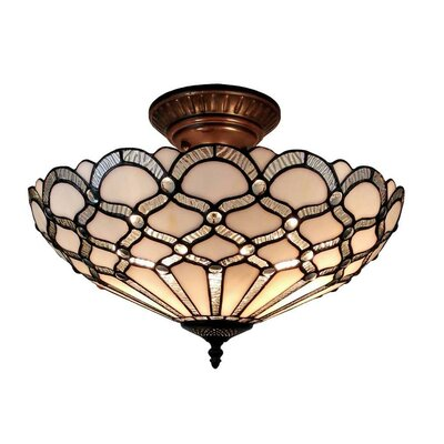 2-Light Semi-Flush Mount