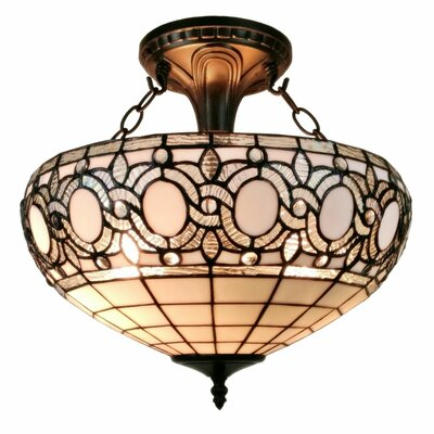 Tiffany 2-Light Semi Flush Mount