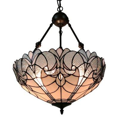 Floral Hanging 2-Light Bowl Pendant