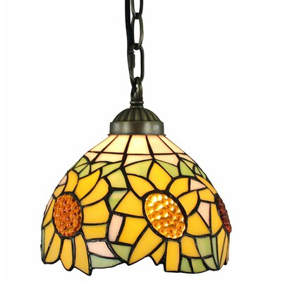 Sunflower Hanging 1-Light Inverted Pendant