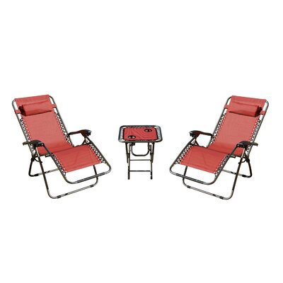 Shumaker 3 Piece Seating Group Fabric: Red