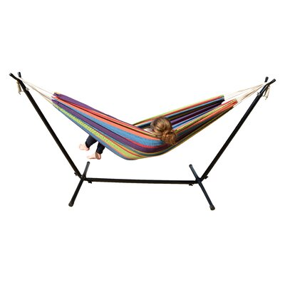 Hammock with Stand Color: Tropical Stripes