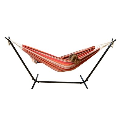 Hammock with Stand Color: Oasis Stripes