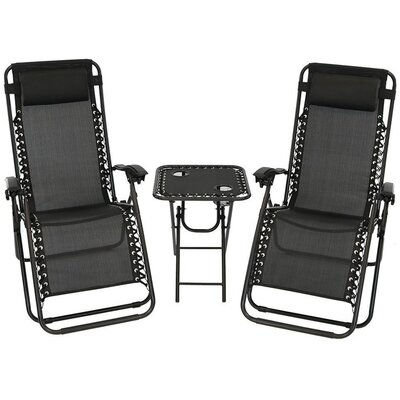 Shumaker 3 Piece Seating Group Fabric: Black
