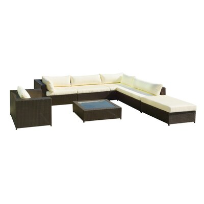 Reliable Rattan Conversation Sectional Sofa Set Cushion Product Photo