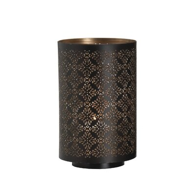 Round Diamond Luminary Metal Votive Holder