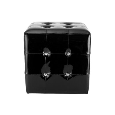 Hawking Cube Ottoman Upholstery: Black