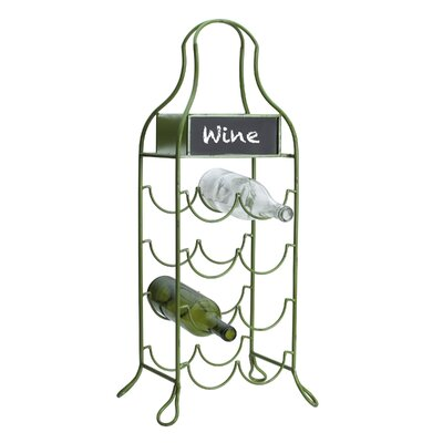 Tseytlin Metal Chalkboard 8 Bottle Tabletop Wine Rack