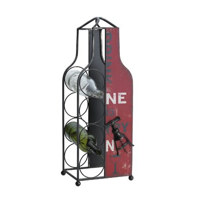 Felisha Metal 4 Bottle Tabletop Wine Rack