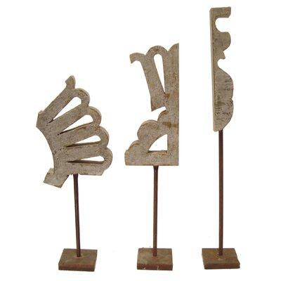 Savannah Finial 3 Piece Sculpture Set